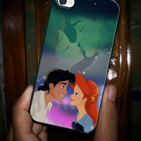 Ariel And Eric Kissing The Little Mermaid - iPhone 4 Case, iPhone 4s Case and iPhone 5 case Hard Plastic Case
