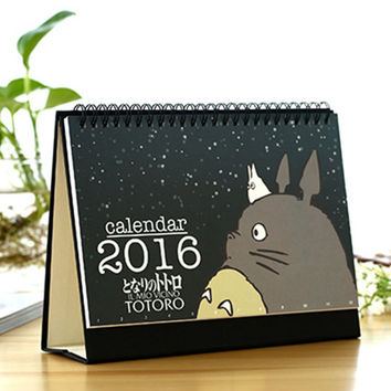 Desk Calendar 2016 Planner Agenda Monthly Planner Table Calendar, Happy Planner, Family Planner, Monthly Calendar Gift for Teacher Toroto