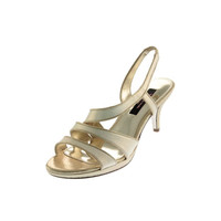 Nina Womens Nolga Metallic Slingback Strappy Sandals