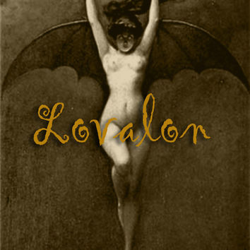 MATURE... Victorian Batgirl... Vintage Nude Photo Art PRINT... Available In 4 x 6 inch, 5 x 7, 8 x 10