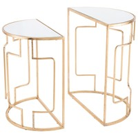 Roma Set Of 2 End Tables Gold