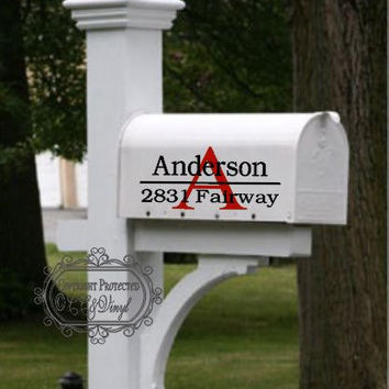Personalized Mailbox Vinyl Decal