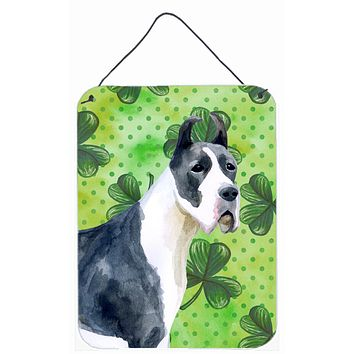 Harlequin Great Dane St Patrick's Wall or Door Hanging Prints BB9817DS1216
