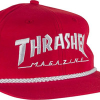 Thrasher Rope Hat Adjustible Red/White