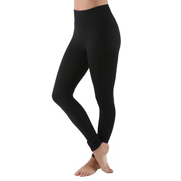 Women's High Waist Active Long Yoga Compression Leggings - Black