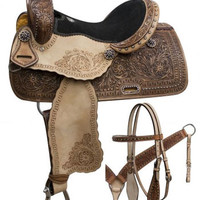 Saddles Tack Horse Supplies - ChickSaddlery.com Double T Barrel Saddle Set With Rainbow Crystal Rhinestones