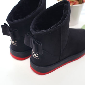 Women Boots 2016 Warm Snow Winter Boots Fashion Fur Ankle Boots For Women Shoes Winter Botas Femininas Ladies Shoes