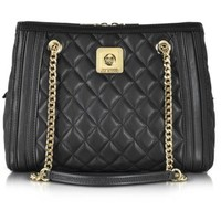 Moschino Handbags Love Moschino Black Quilted Eco Leather Satchel