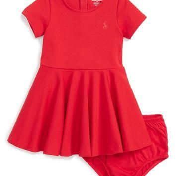 Ralph Lauren Ponte Knit Dress (Baby Girls) | Nordstrom