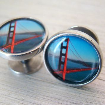 The Things That Dreams Are Made Of • Golden Gate Bridge Cufflinks