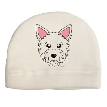 Cute West Highland White Terrier Westie Dog Adult Fleece Beanie Cap Hat by TooLoud