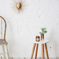 Holly's House - White Stool With Copper Legs
