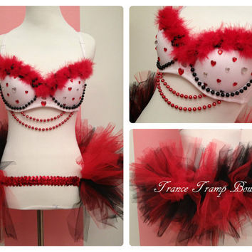 Queen of Hearts Rave Outfit
