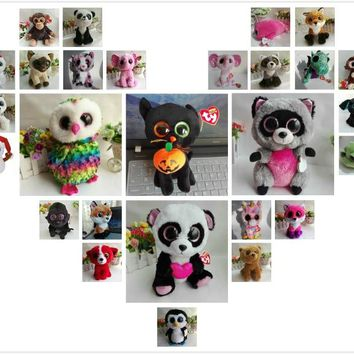 TY BEANIE BOOS 1PC 25CM Plush Toys Stuffed animals FANTASIA UNICORN FAY FOX lollipop rabbit darla dragon buff husky