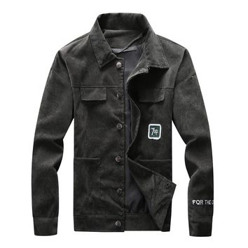 Europe cultivate morality man lapel jacket