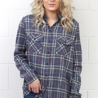 Our Favorite Plaid Flannel {Slate Blue} EXTENDED SIZES