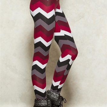 Chevron Peached Leggings