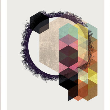 Abstract art, Geometric Art, Retro poster, Mid century modern, Colorful, Scandinavian Style abstract digital poster print, INSTANT DOWNLOAD.