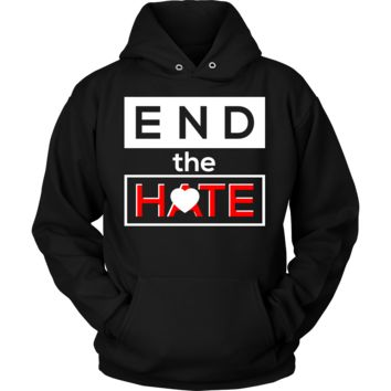 End the Hate,Awareness Bullying,Racism Hoodie