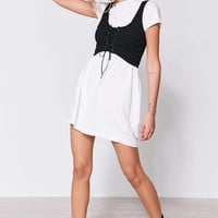 Silence + Noise Faith Lace-Up Bustier Crop Top - Urban Outfitters