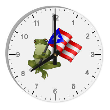 """Coqui Holding Flag 8"""" Round Wall Clock with Numbers"""