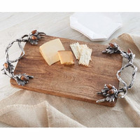 Cabin Fever Wood Cutting Board with Acorn Accents by Mud Pie
