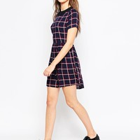 Brave Soul Checked Skater Dress