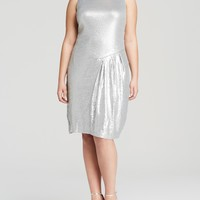MYNT 1792 Asymmetric Pleat Sequin Dress