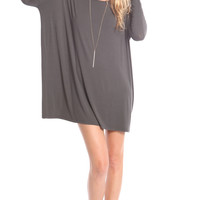 CHARCOAL OVERSIZE TUNIC DRESS (made from Bamboo)