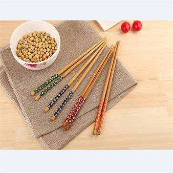 Natural Sushi Chopsticks Traditional Vintage Handmade Chinese Dinner Eco-friendly Individual palillos chinos Chinese Gift