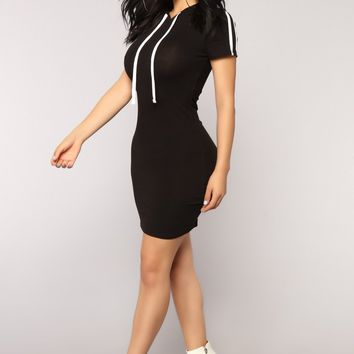 Get Stripe To It Dress - Black