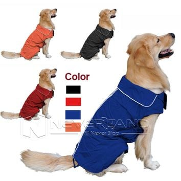 Pet Dog Outdoor Winter Waterproof Rain Coat Jacket Fleece Hoodie Costume Clothes