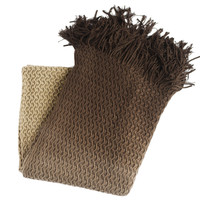 Diane Coffee Knitted Throw