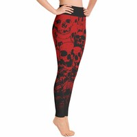Skull Leggings - Red Skull Costume - Skull Costume - Halloween leggings - Day of the Dead