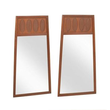 Pre-owned Mid-Century Modern Trapezoidal Mirror Pair