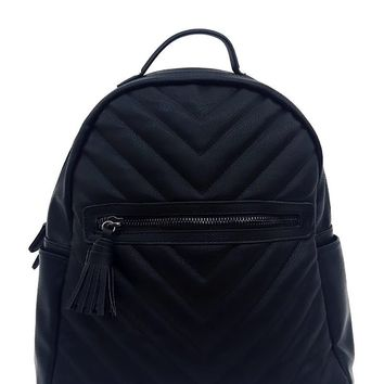 Brooklynn Black Vegan Leather Backpack