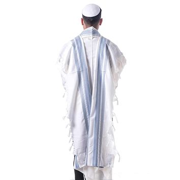 Colors Tallit 3 Piece Set. Joseph's Coat In Turquoise / Silver