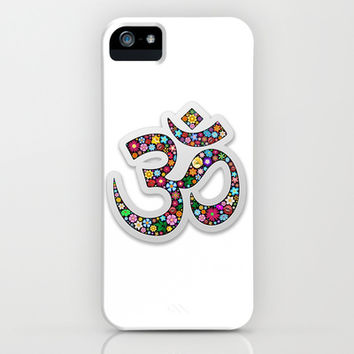 Om Aum Namaste Yoga Symbol  iPhone & iPod Case by Bluedarkat Lem