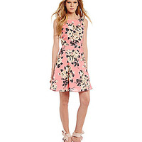 Betsey Johnson Floral-Print Fit-and-Flare Dress | Dillards.com