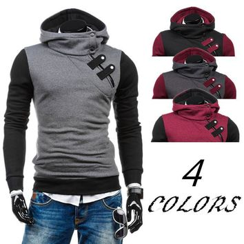 Men's Fashion Winter Men Casual Sports Hats Pullover Zippers Slim Hoodies [10669404995]