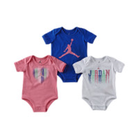 Nike Jordan MJ's Bright Lights Three-Pack Newborn Girls' Bodysuit Set - Grey