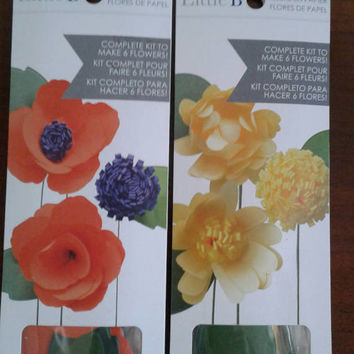 Little B | Paper Flowers | Petal Strip Kit | Makes 6 Flowers | Choose Wildflower or Yellow Daisy