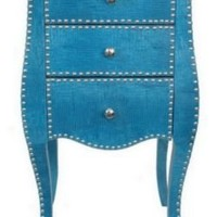 One Kings Lane - Souk Treasures - Studded Cabinet, Blue