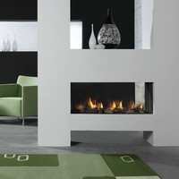 Gas fireplace with remote control ASPECT Premium ST L by DIM'ORA