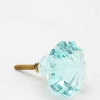 Round-Cut Glass Knob- Blue One