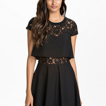 Lace Insert 2 - 1 Dress - River Island - Black - Party Dresses - Clothing - Women - Nelly.com