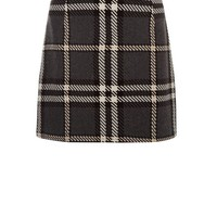 Grey Oversized Check Skirt | New Look