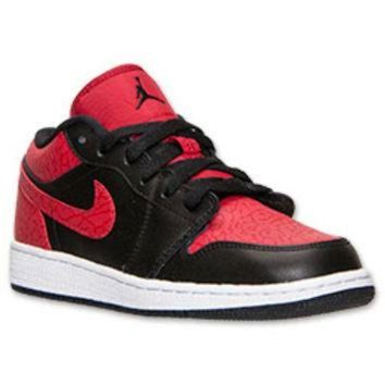 LMFUG7 Boys' Grade School Air Jordan 1 Low Basketball Shoes