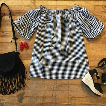 Fall in the South Off-the-Shoulder Dress