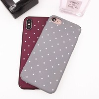 Mouplayca fashion Cases for iphone X (10) Iphone 7 7plus matte raindrop hard fundas Back cover  for iphone 6 6s coque phone case
